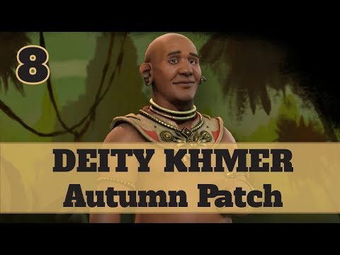 Civ 6 Khmer 8 Let's Play - Jayavarman Religious Relics Victory on the Autumn Patch