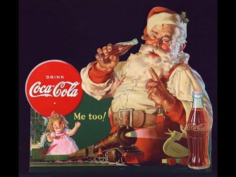 Santa Claus Coke Ads 1950