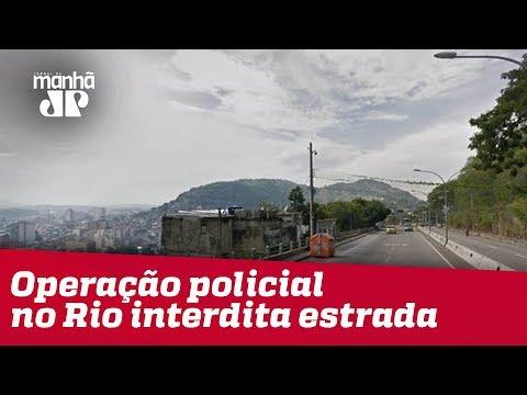 Operação Policial No Rio Interdita Estrada Grajaú-Jacarepaguá