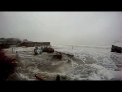 hurricane sandy storm surge, tidal flooding + the aftermath in ocean city,  nj