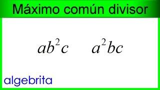 Máximo común divisor de monomios 382