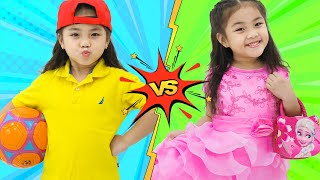 Annie and Sammy Pretend Play Dress Up | Funny Video for Kids
