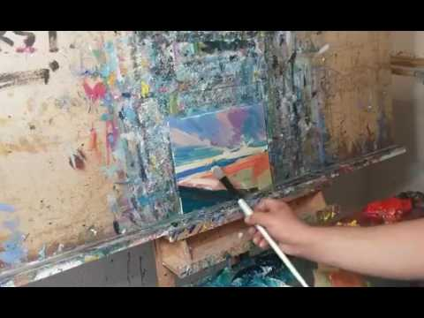Oil Painting Demo with Commentary on Entering the Zone! By Artist JOSE TRUJILLO
