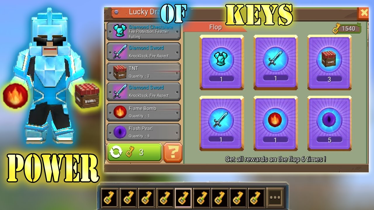 Download POWER OF 999+ KEYS In Bed Wars | Blockman Go Gameplay (Android , iOS)