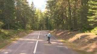 Helt downhillåk med Adam Persson - 90km/h på skateboard - Ride (TV4Sport)