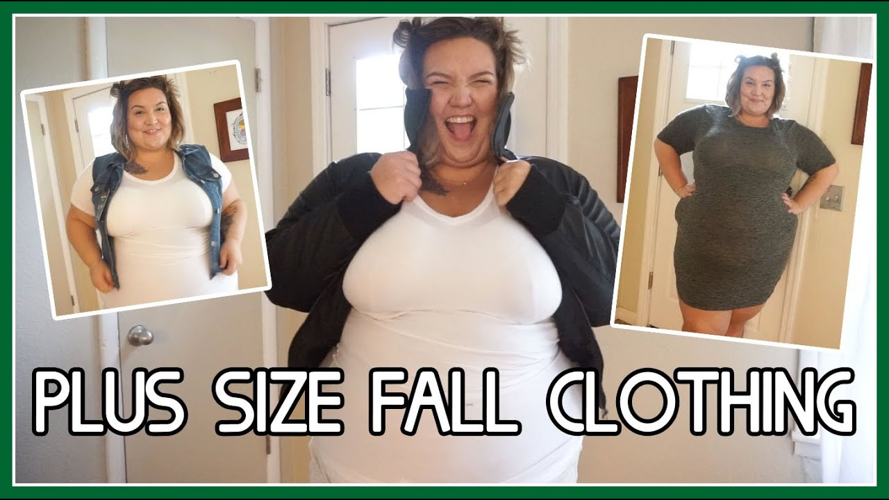 PLUS SIZE FALL CLOTHING w/ Rainbow Shops - YouTube