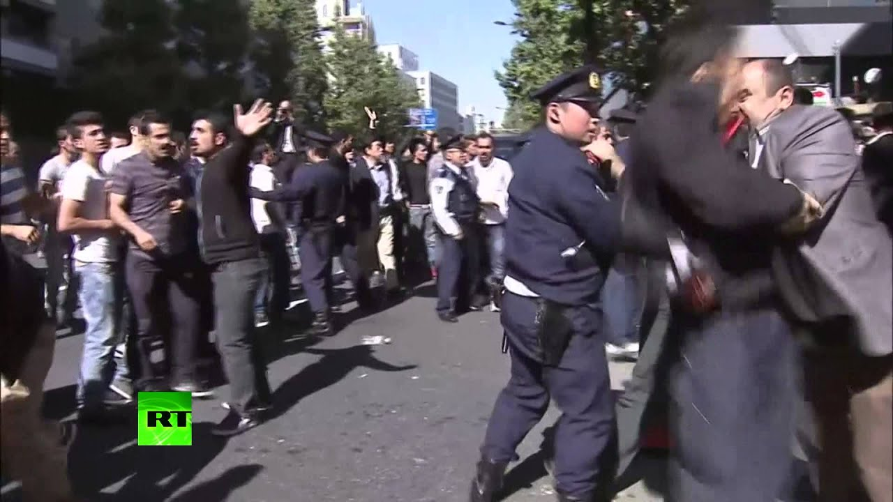 RAW: Clashes take place near Turkish embassy in Tokyo as elections approach