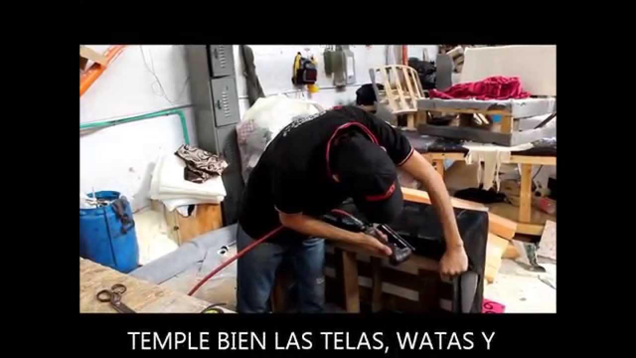 Como tapizar una sala youtube - Como tapizar una descalzadora ...