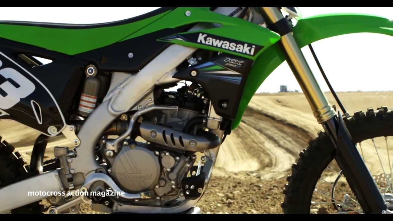 motocross action's first look 2014 kawasaki kx250f - youtube