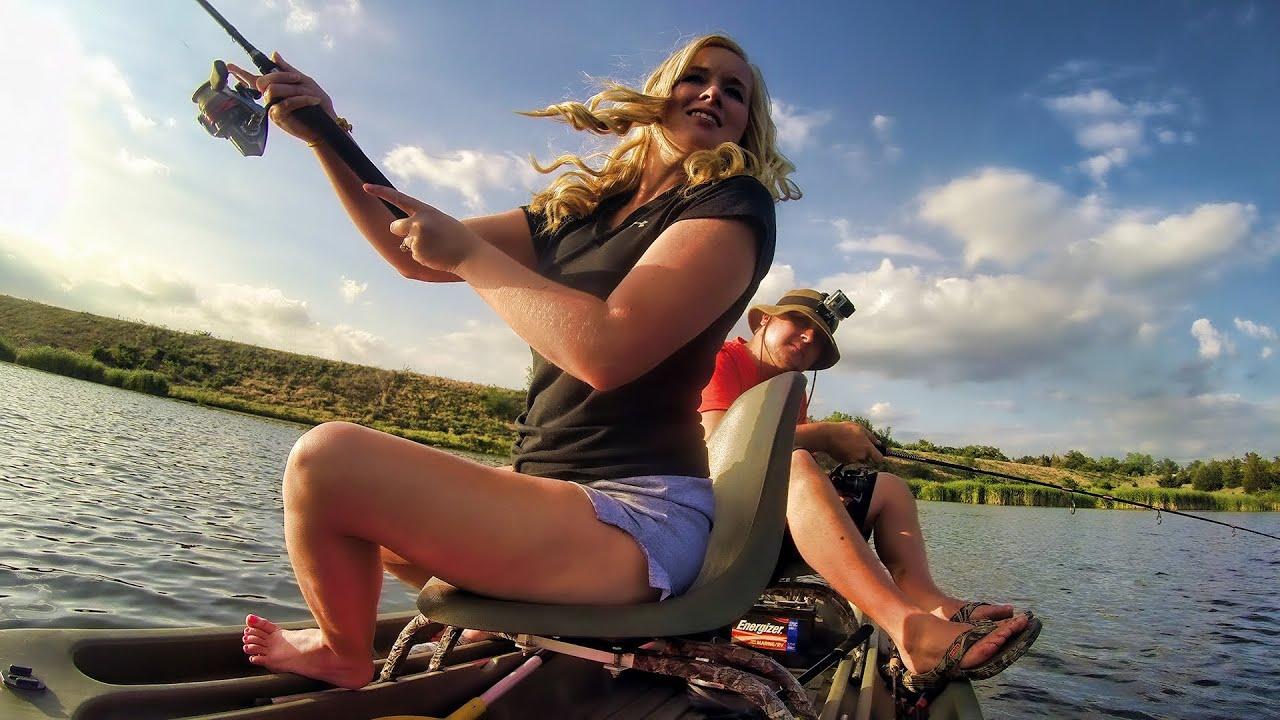 Outdoor Nude Girl Fishing