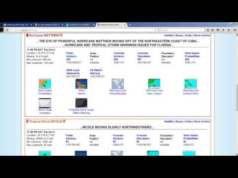 Hurricane Matthew 11pm ET NHC Advisory Package Update Oct 4