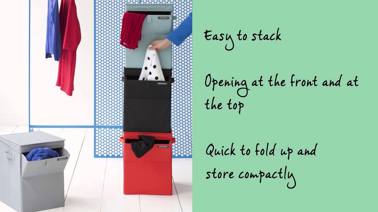 brabantia stackable laundry box youtube