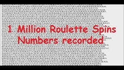 ROULETTE ANALYSIS 1 Million spins done, and all numbers spins recorded.