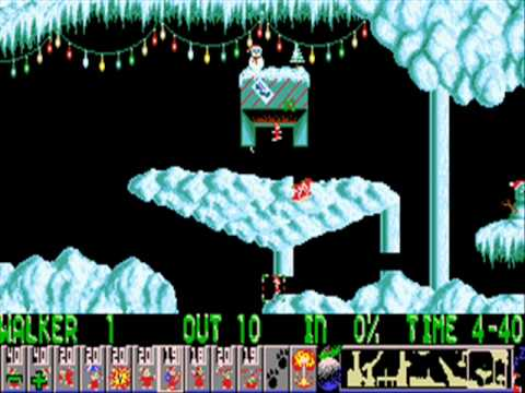 Xmas Lemmings 1991 - Full Walkthrough