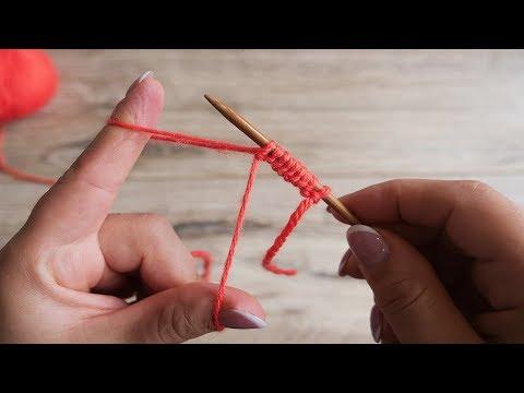 Набор петель от одного конца нити   Cast On Knitting Stitches