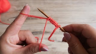 Набор петель от одного конца нити | Cast on knitting stitches