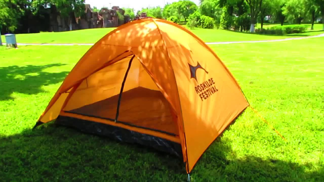 3 Man Double Layers Dome C&ing Tent/Music Festival Tent & 3 Man Double Layers Dome Camping Tent/Music Festival Tent - YouTube