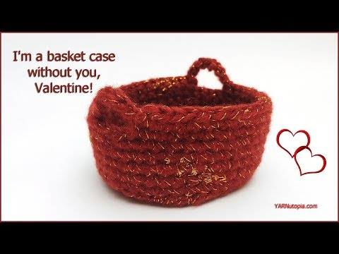 Crochet Tutorial: Simple Basket