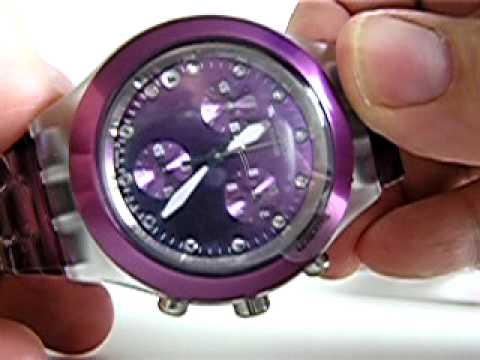 89ef00e6599 Gormitis.com.br Relogio Swatch Diaphane Collection FULL BLOODED NOVAS CORES  SEXY   CHIC