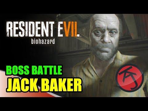 Resident Evil 7 - BOSS BATTLE - ETHAN VS JACK BAKER