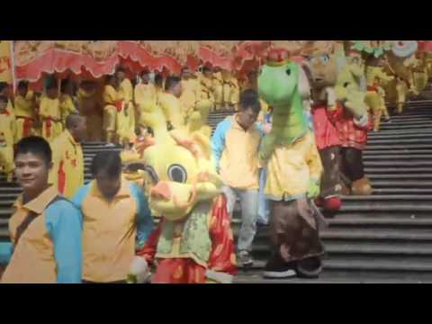 China Dragon Dance At Macau
