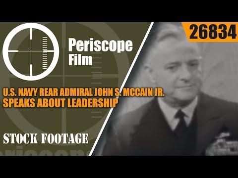 U.S. NAVY REAR ADMIRAL JOHN S. MCCAIN JR. SPEAKS ABOUT LEADERSHIP26834