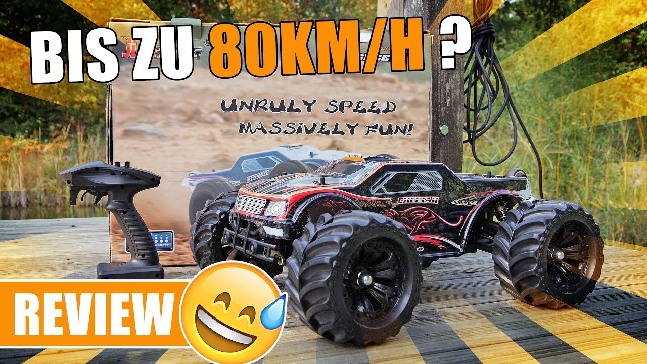 jlb cheetah rc car mit bis zu 80 km h review german