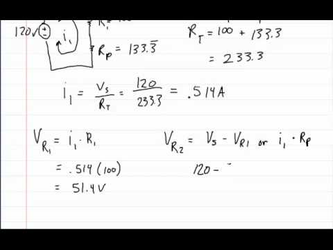 series parallel circuits part 5 solving for current voltage and rh youtube com