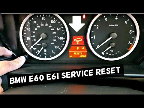 BMW E60 61 HOW TO RESET SERVICE  BRAKE SERVICE, OIL SERVICE RESET