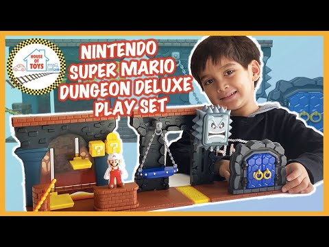 Nintendo Super Mario Dungeon Deluxe Play Set Toy Review UNBOXING