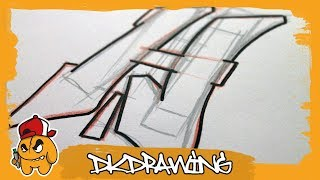 Graffiti Tutorial for beginners - How to draw & flow your graffiti letters - Letter H