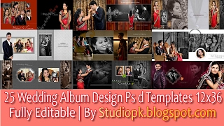 Wedding Album Design Psd Files 12x36 Free Download | Wedding Album Psd 25 Collection