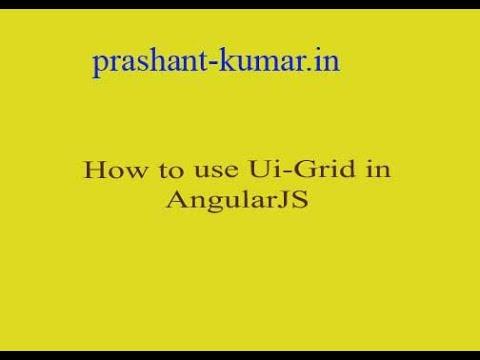How to use angular ui grid? thumbnail