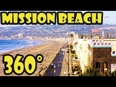San Diego Mission Beach 360 Video Walking Tour