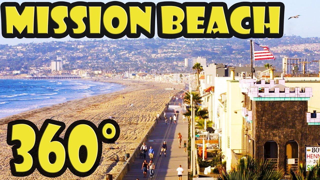 Dunk Island Holidays: San Diego Mission Beach 360 Video Walking Tour