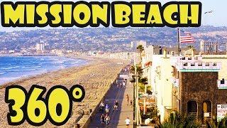 San Diego Mission Beach 360 Video Walking Tour