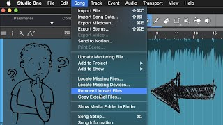 Remove Unused Files in #StudioOne