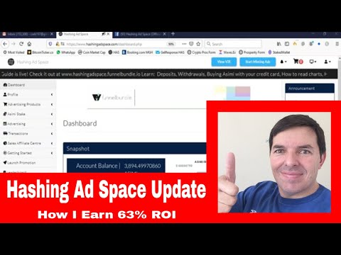 Hashing Ad Space Update | See How to earn 60% ROI by Staking Asimi at Hashing Ad Space