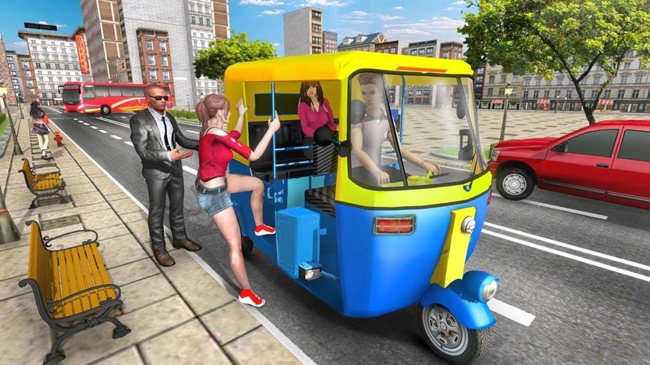 Modern Tuk Tuk Auto Rickshaw: Free Driving Games Android Gameplay