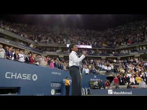 Suraj Partha Sings at the 2009 US OPEN
