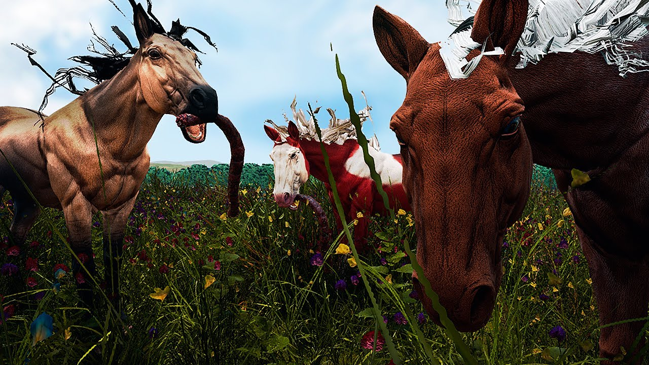 Download Corcel Indomável, Família de Cavalos e os Styracossauros Violentos | Path of Titans | (PT/BR)