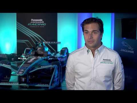 Jaguar's all electric I-TYPE 2 racecar unveil - Interview Nelson Piquet