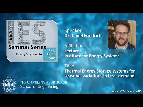 Thermal Energy Storage systems for seasonal variations in he