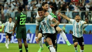 ARGENTINA BEAT NIGERIA 2-1 - THANKS TO ROJO