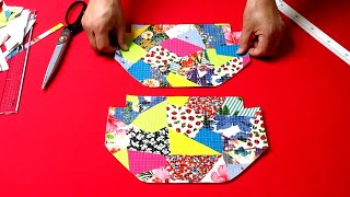 """DIY패치웍 사각 퀼팅 화장품 파우치/make a """"luxury bag""""/patchwork square quilting cosmetic pouch"""