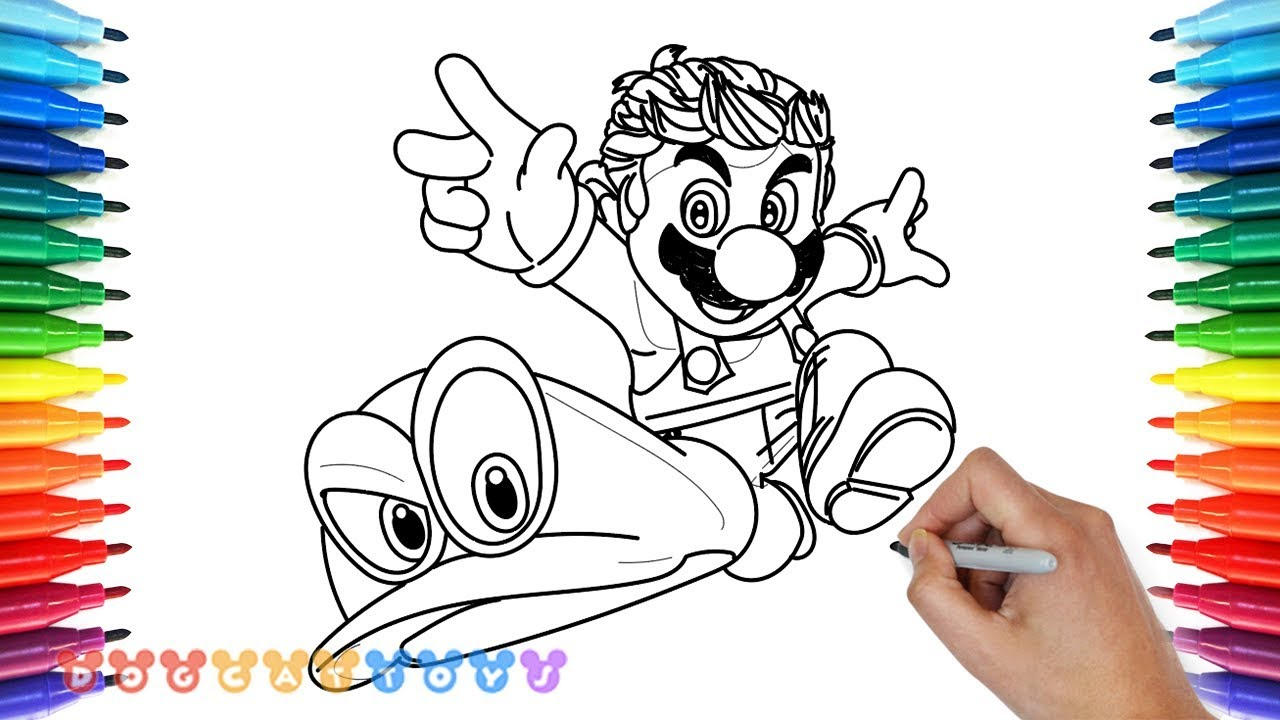 Drawing Super Mario Odyssey 3 Drawing Coloring Pages For Kids Youtube
