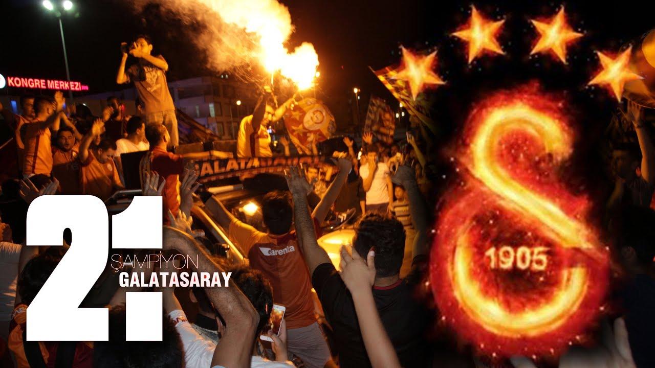 Erdemli'de Galatasaray Taraftarlarının 21. Şampiyonluk Kutlamaları