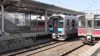 JR青森駅 津軽線 三厩行き発車【GV-E400系・337D】 2021.03.26
