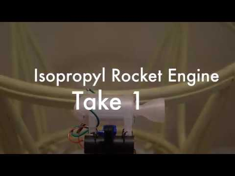 Isopropyl Rocket engine Test 1