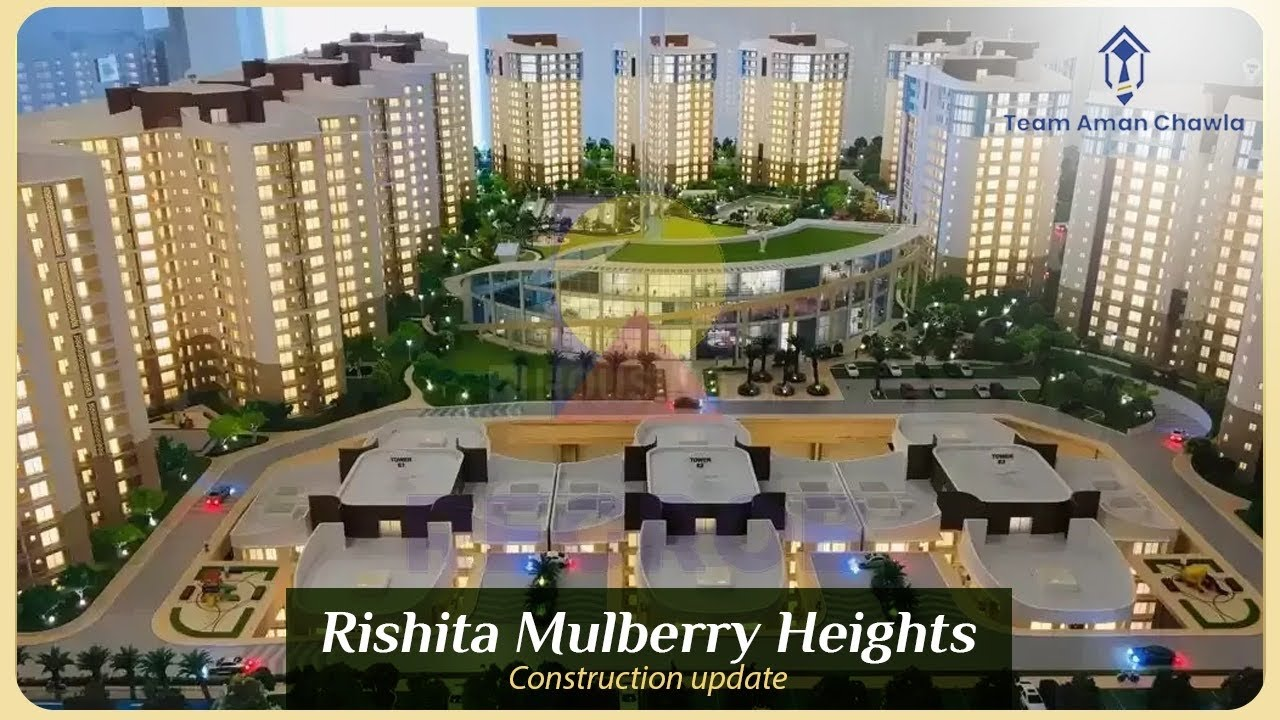 Flats in Sushant Golf City Lucknow | Rishita Mulberry Heights | Construction Status Update